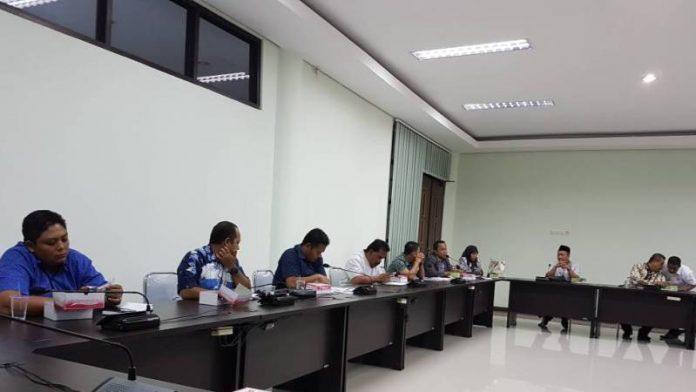 Suasana pemanggilan pihak rumah sakit umum daerah bersama dengan anggota dewan Tuban. (Ist)