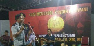 Kapolres Tuban, AKBP Fadly Samad ketika menyampaikan pesan. (Atmo)
